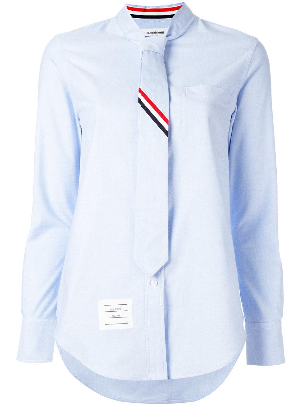 Thom browne tie shirt in blue lyst for Thom browne shirt sale