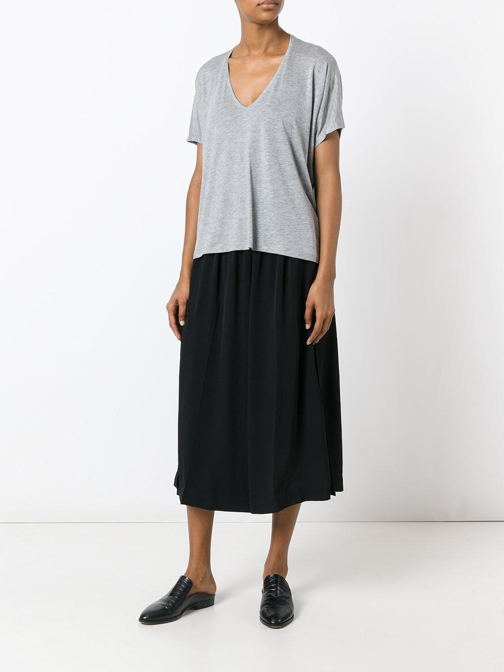 Acne Studios V Neck T Shirt Women Lyocell L In