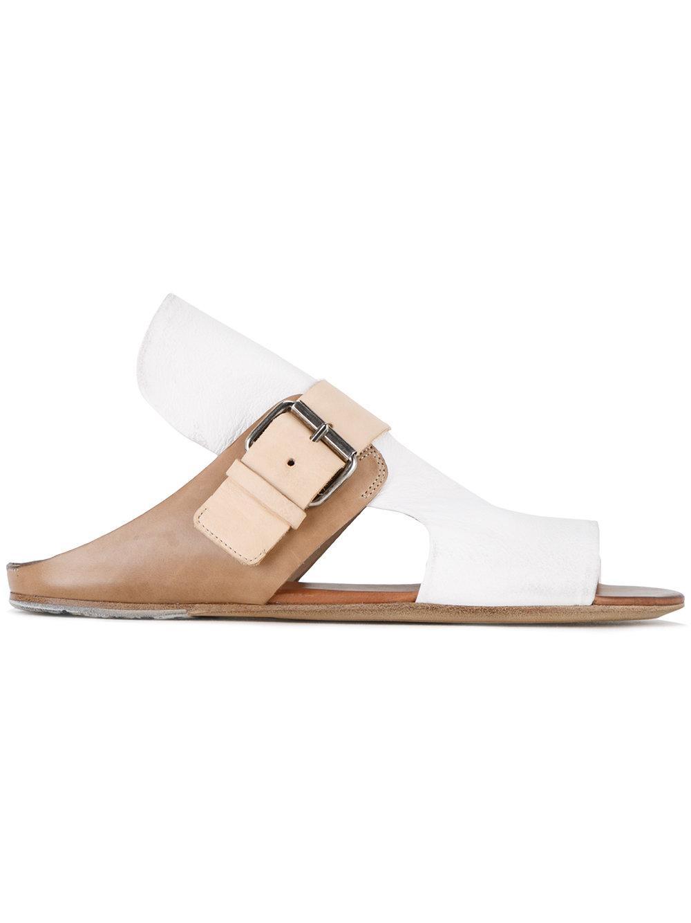 mars 232 ll open toe sandals in white lyst