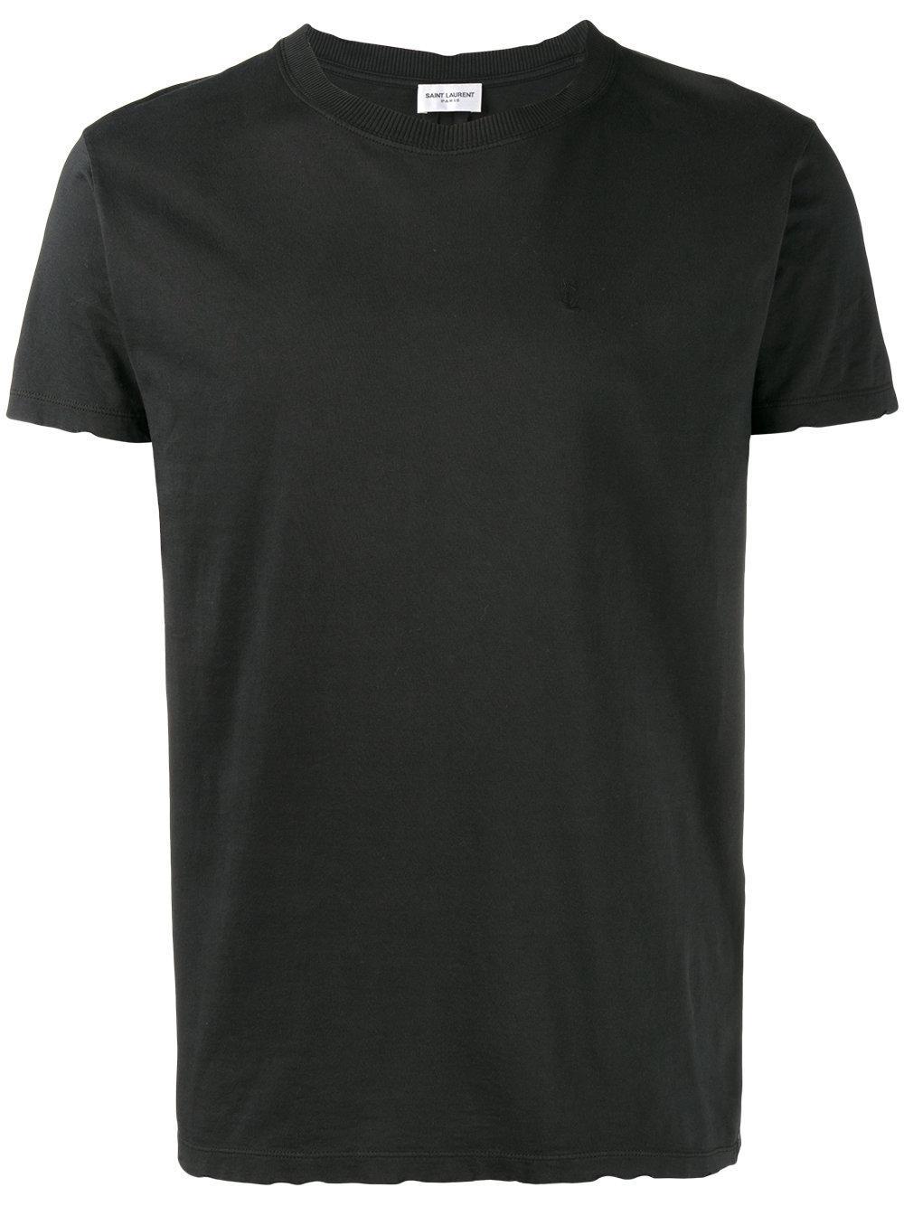 saint laurent distressed t shirt in black for men lyst. Black Bedroom Furniture Sets. Home Design Ideas