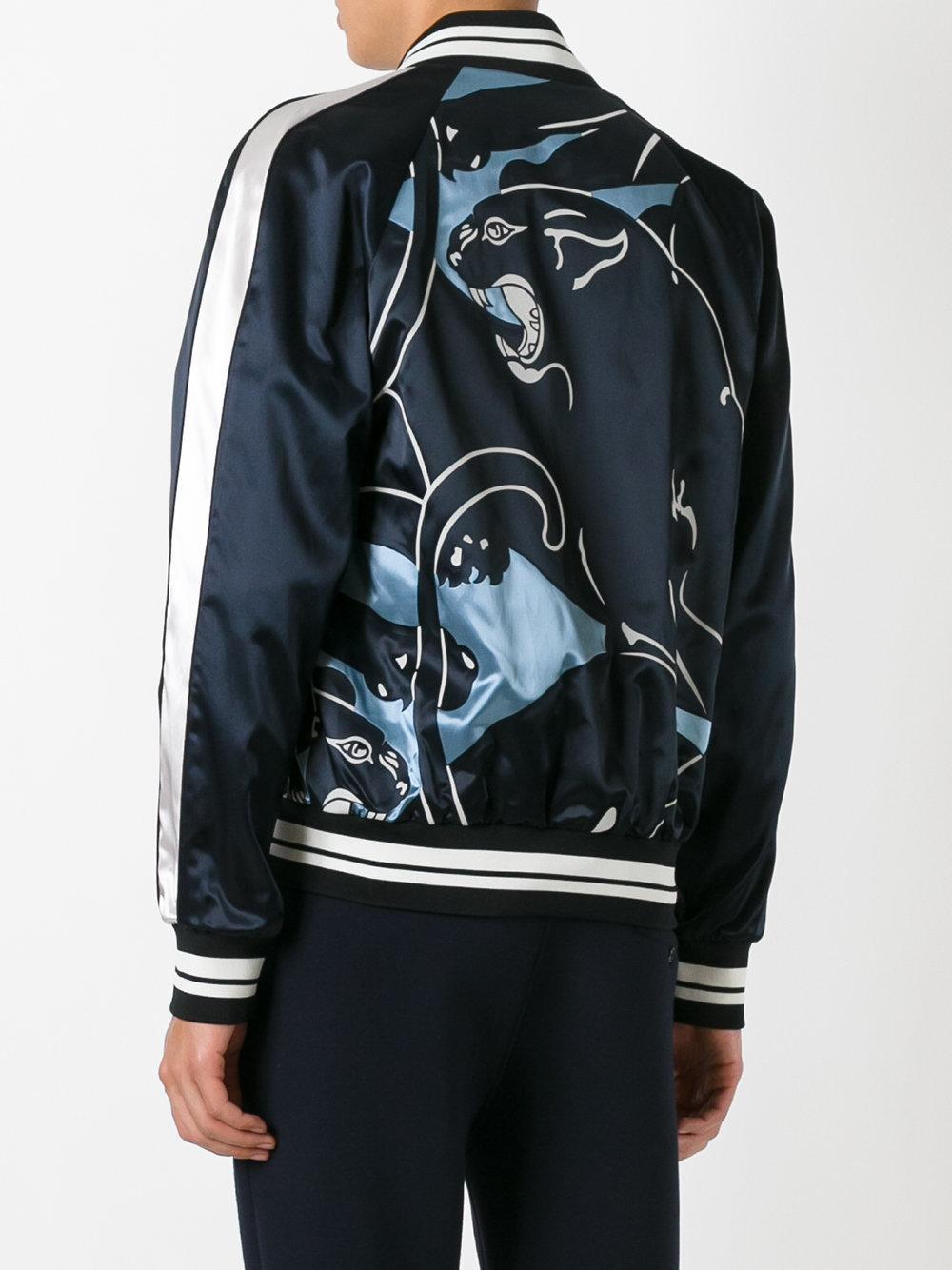 Valentino Lion Print Bomber Jacket In Black For Men Lyst