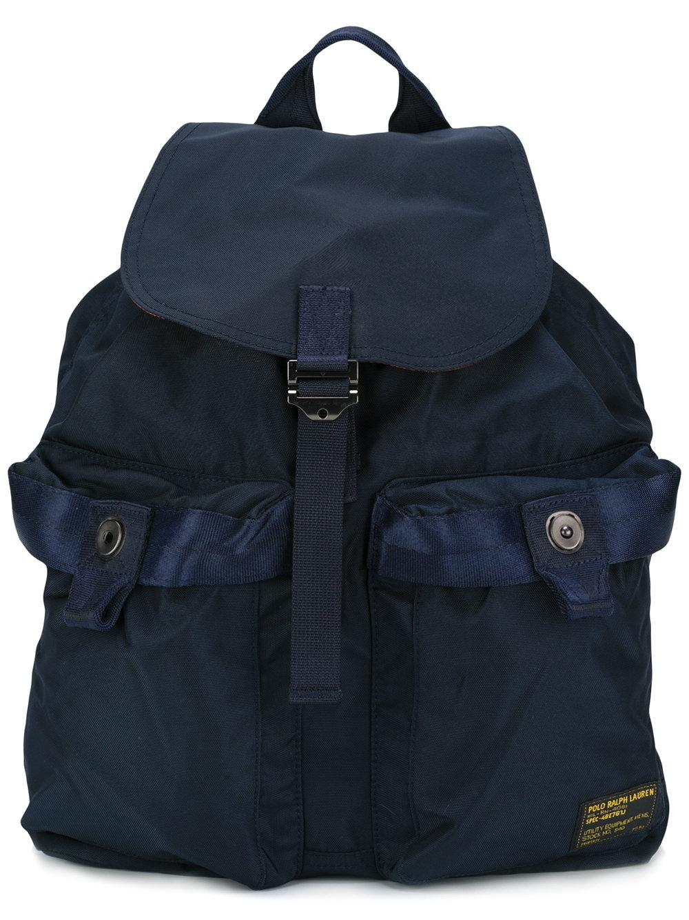 3d31e00abb42 Lyst - Polo ralph lauren Buckled Backpack in Blue for Men