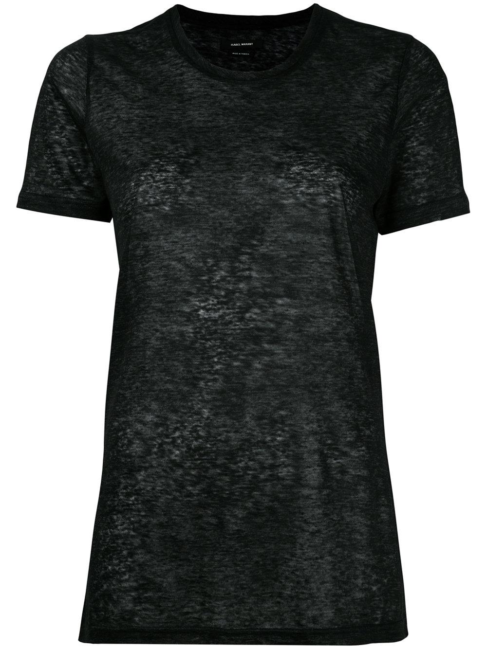 Isabel marant madjo t shirt in gray lyst for Isabel marant t shirt sale
