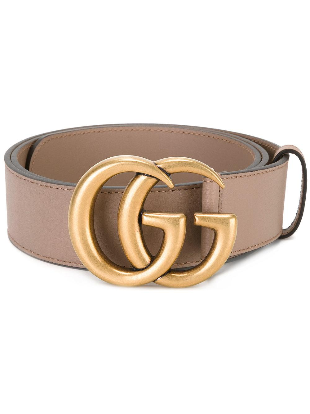 58854570e Gucci Double G Buckle Belt in Natural - Lyst