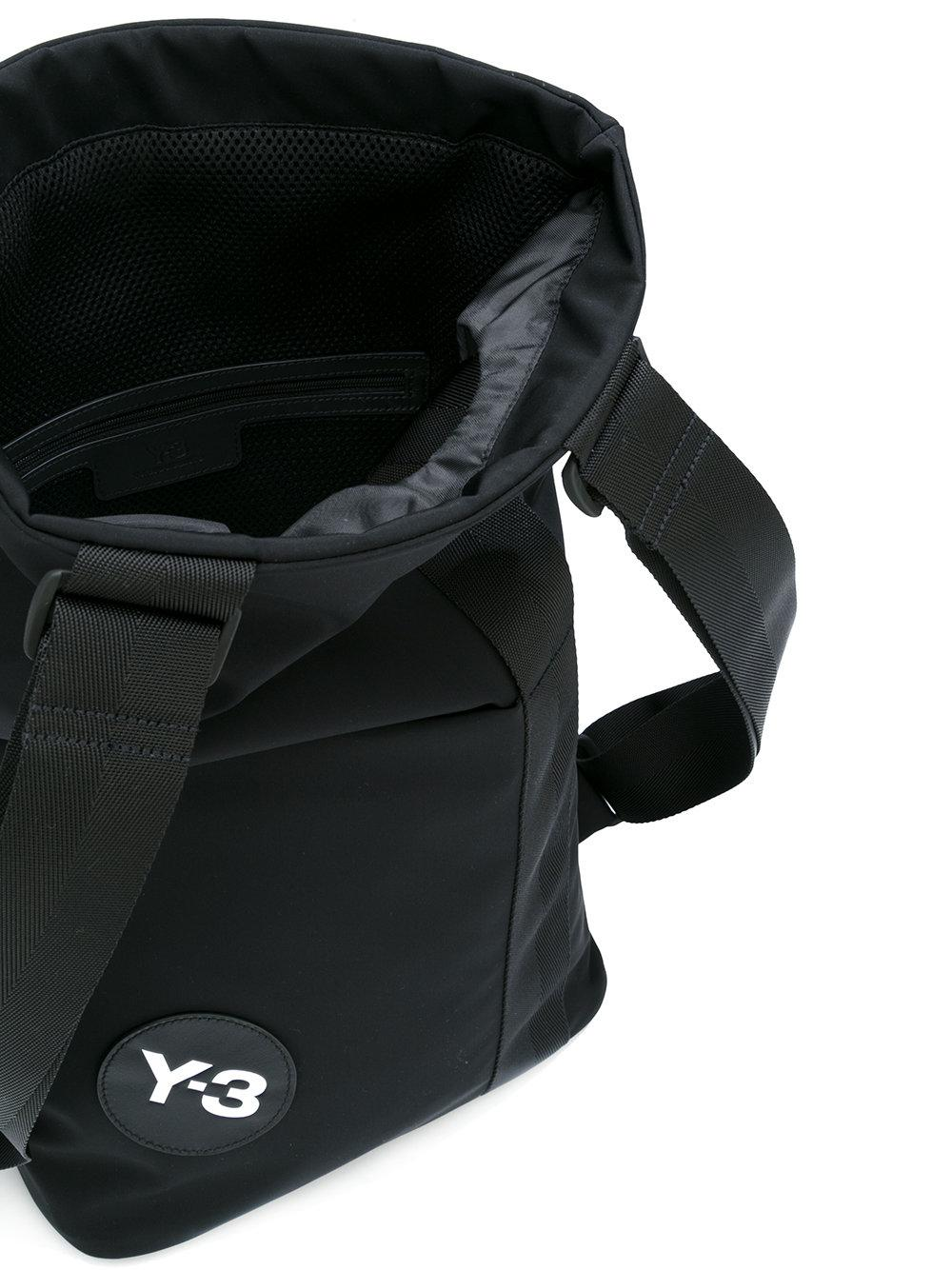 437cdfb1689f Lyst - Y-3 Logo Patch Backpack in Black for Men