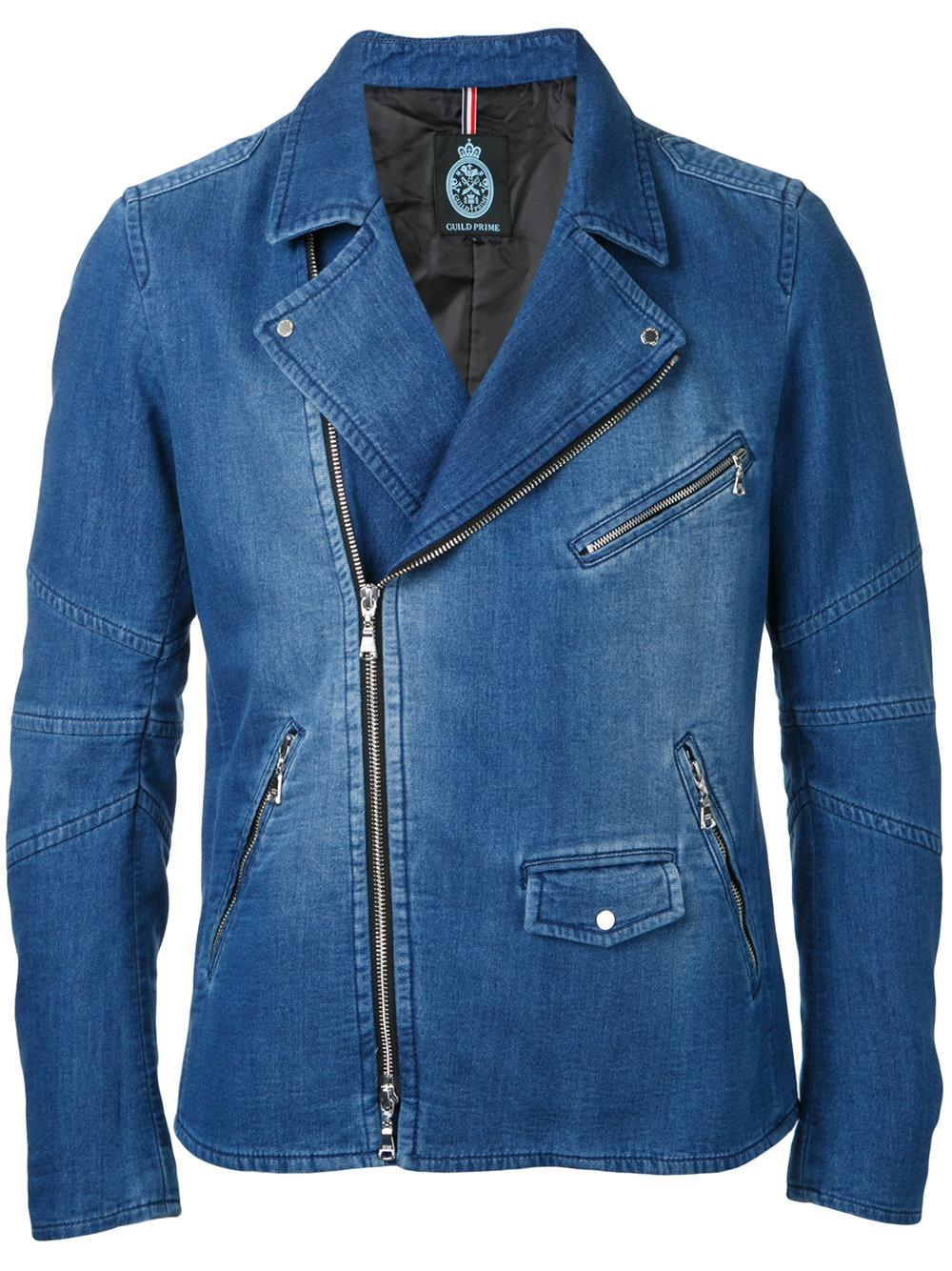 Guild Prime round neck denim jacket - Blue Cheap With Credit Card Low Price Sale Particular Order Cheap Price o7V1q7dV