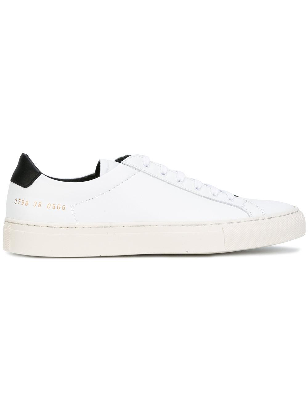 common projects achille retro sneakers women calf leather leather rubber 37 in white lyst. Black Bedroom Furniture Sets. Home Design Ideas