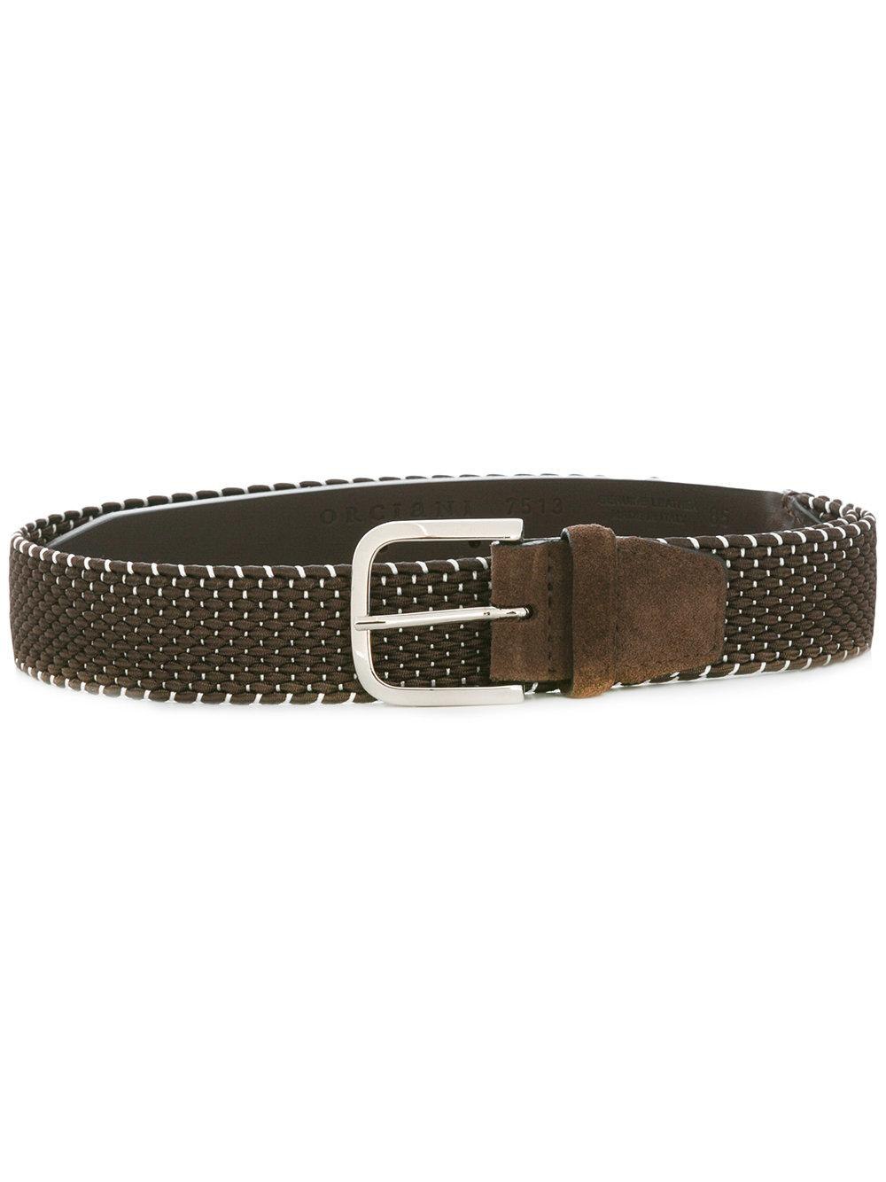 orciani woven belt in brown for lyst