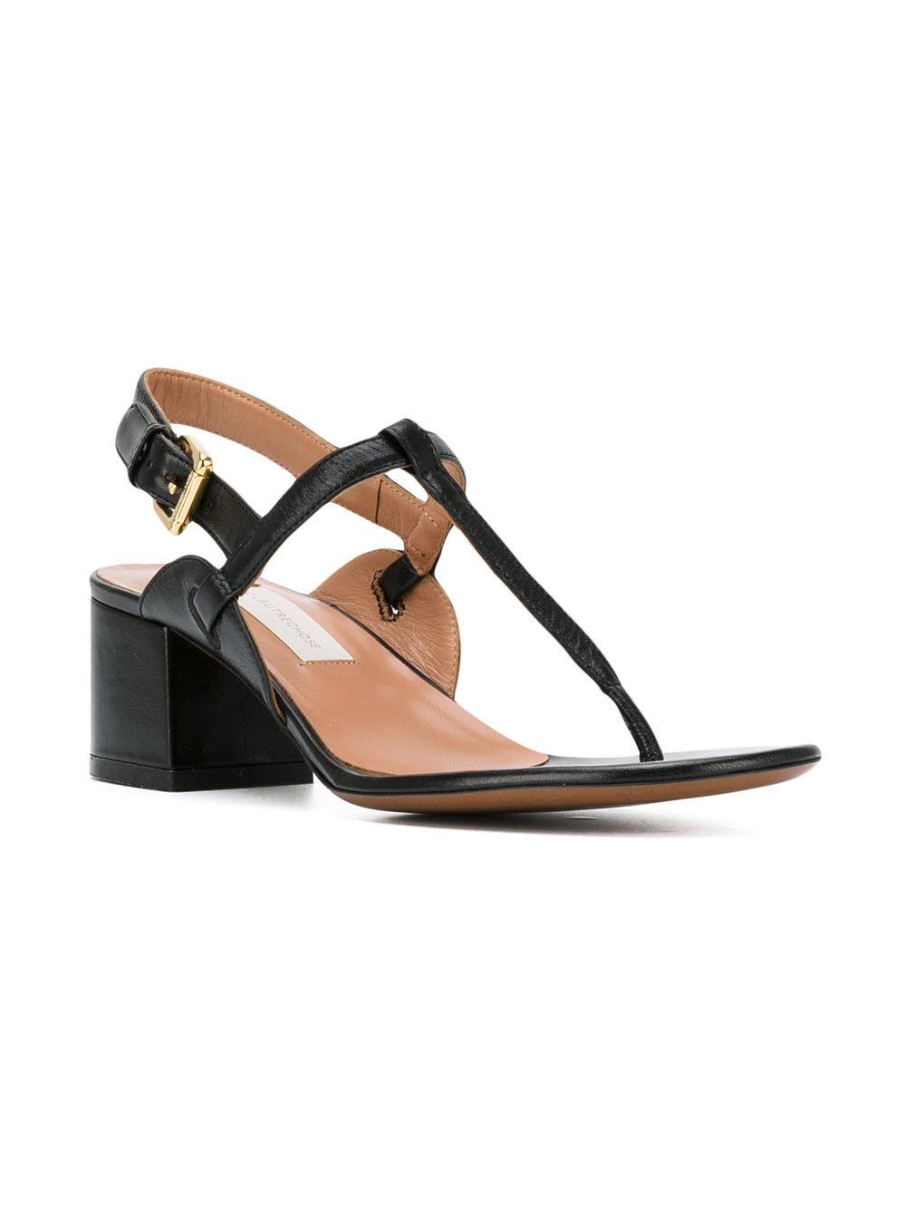 Lyst L Autre Chose Block Heel Thong Sandals In Black
