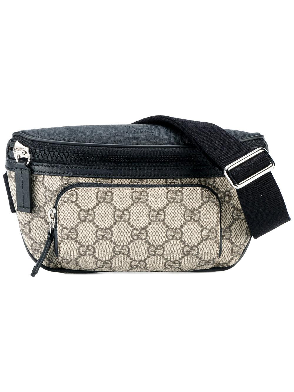 Gucci Gg Supreme Cross Body Bag In Brown For Men Lyst