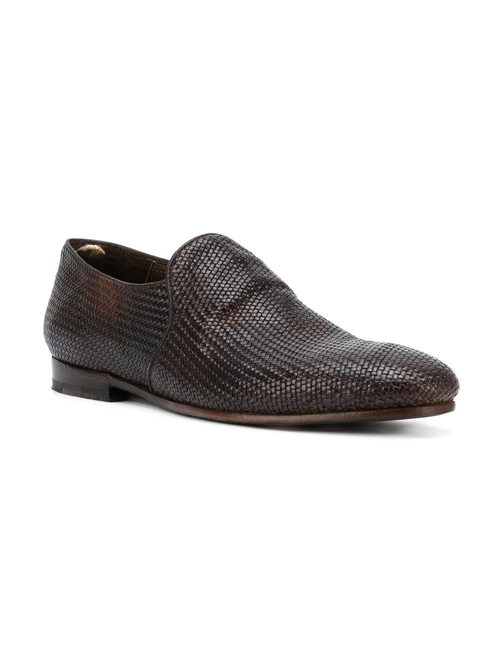 Officine Creative Woven Slippers In Brown For Men Lyst