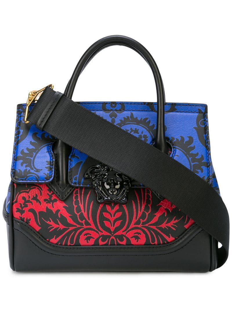 679a69bdfe Lyst - Versace Baroque Print Palazzo Empire Bag in Black