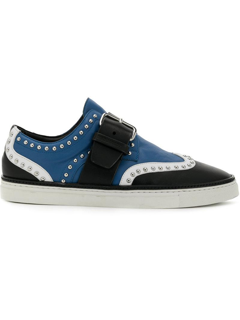 studded colour-block sneakers - Black Dsquared2 ThCpgRh