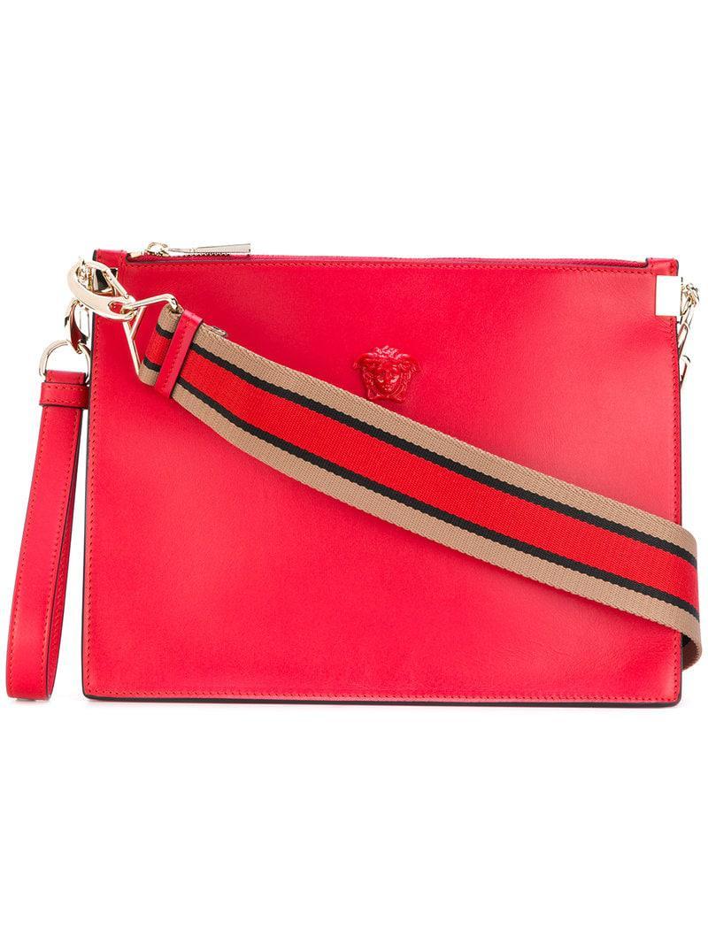 fda27d73cf Versace Palazzo Medusa Wristlet Clutch Bag in Red - Lyst