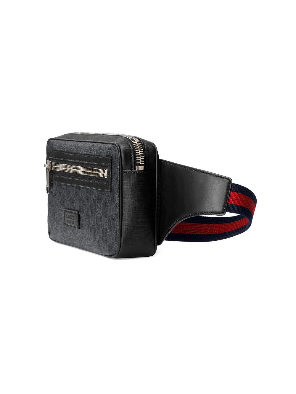 7d3a6df4dec6 Lyst - Sac ceinture en toile suprême GG souple Gucci pour homme en ...