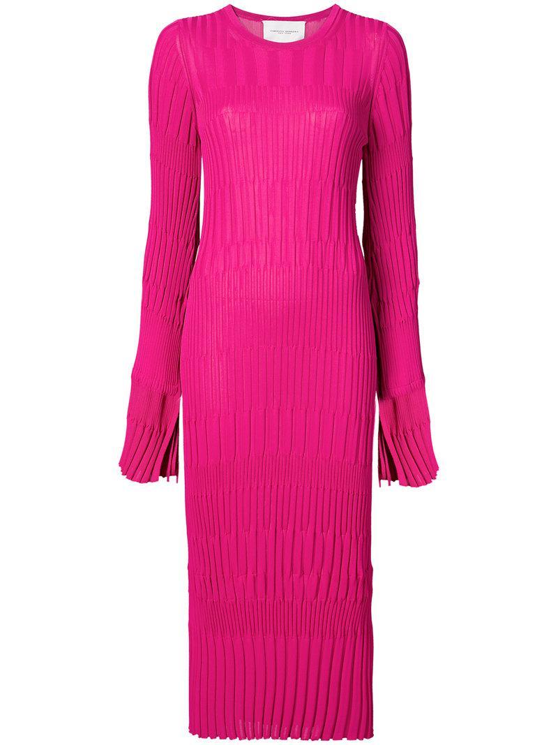 Buy Cheap 2018 Cheap Sale The Cheapest fitted knit dress - Pink & Purple Carolina Herrera 9ptoU9rr