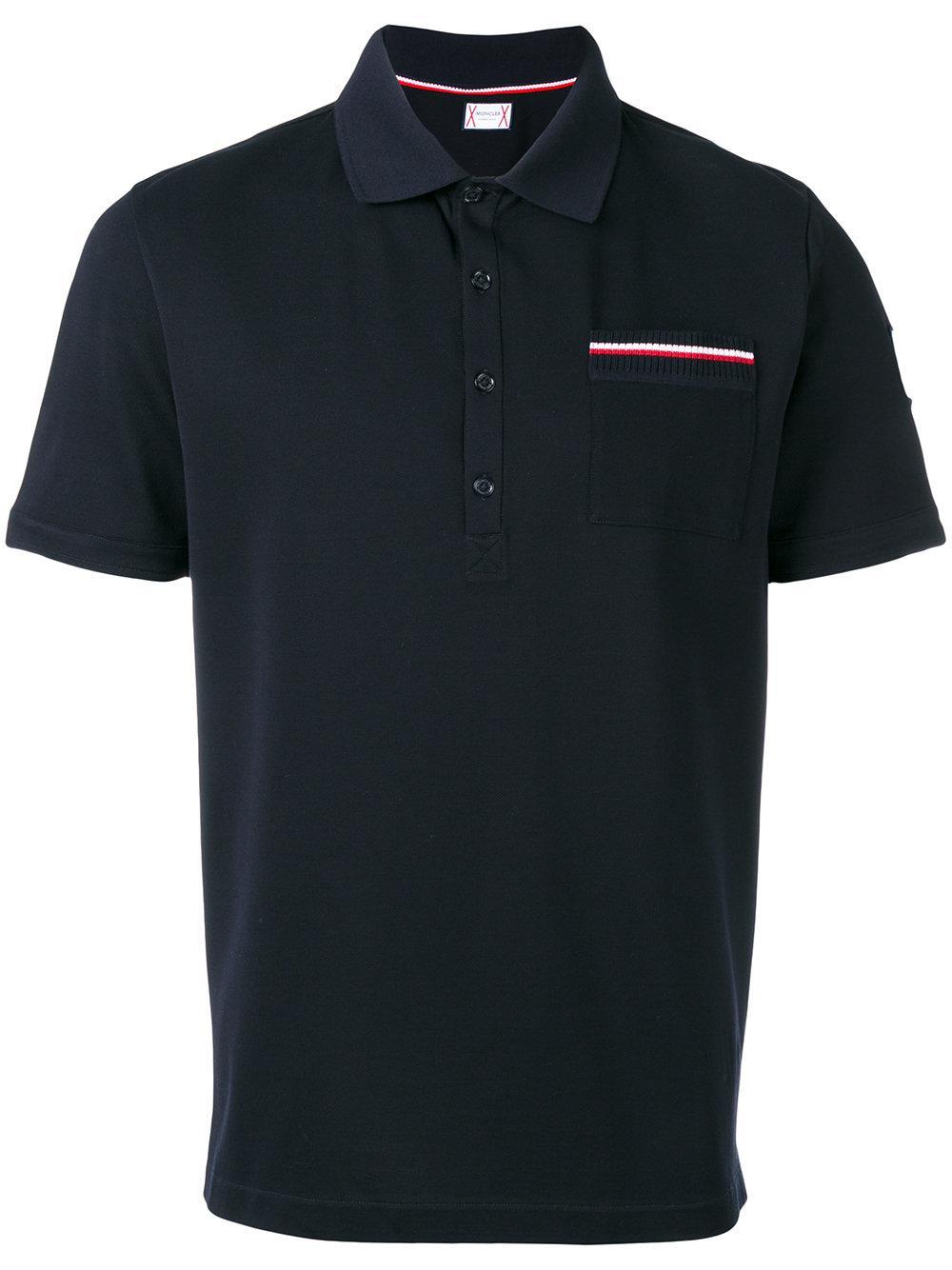 Moncler gamme bleu chest pocket polo shirt men for Men s polo shirts with chest pocket