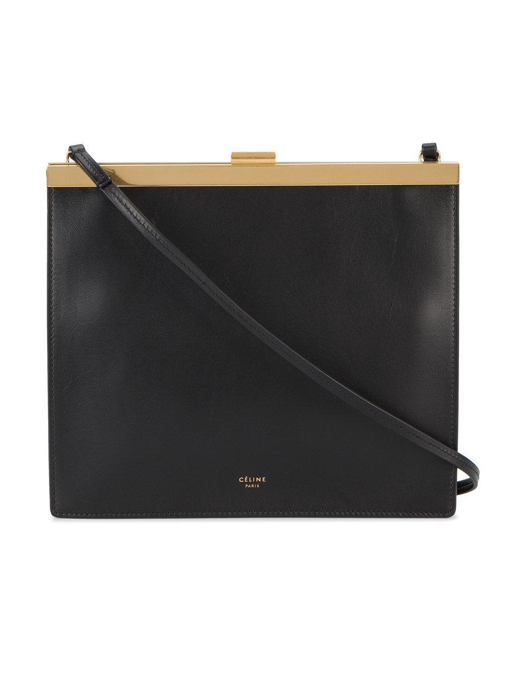 Lyst C 233 Line Mini Clasp Cross Body Bag In Black