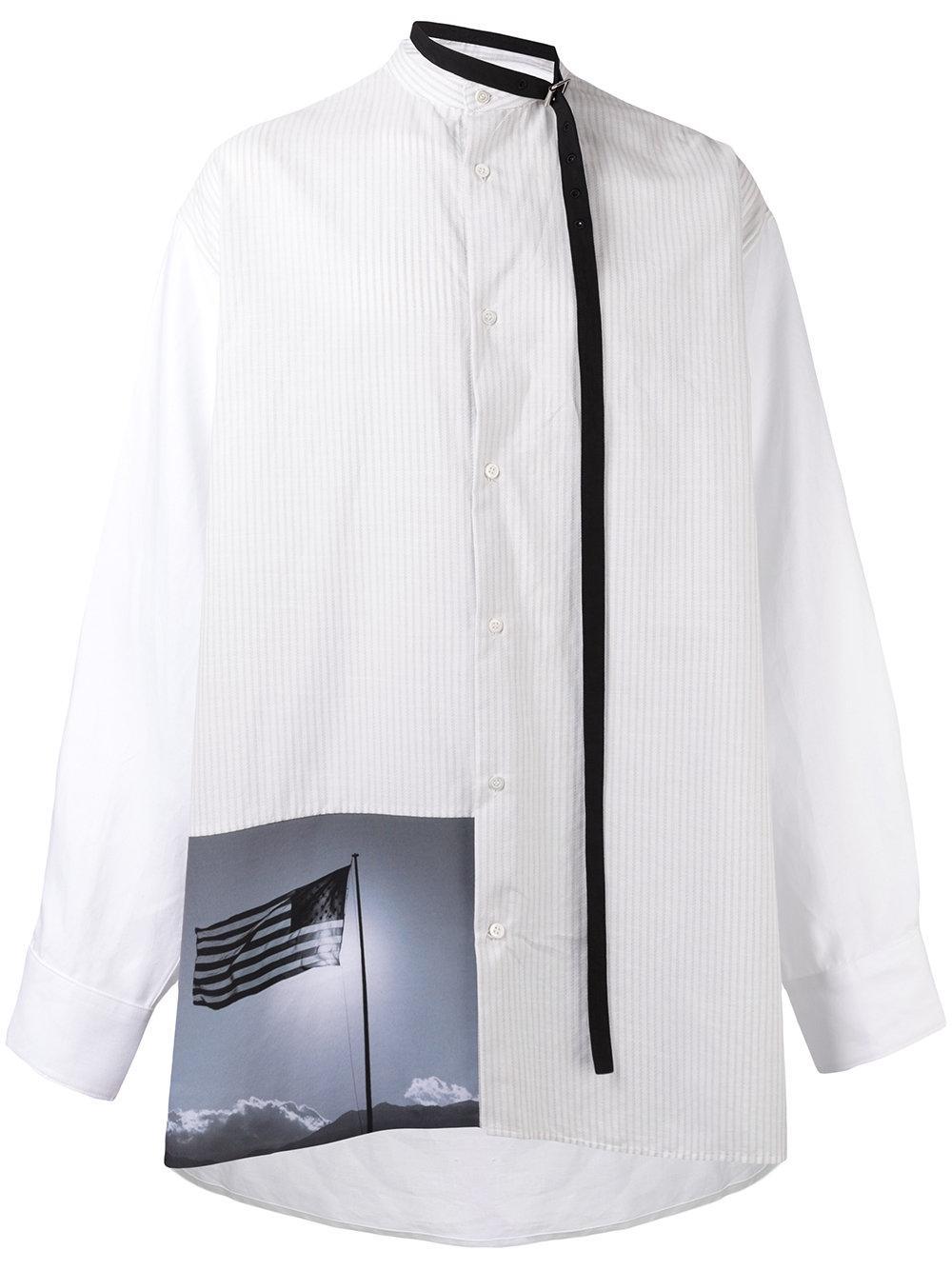 Raf simons x robert mapplethorpe patch print shirt in for Raf simons robert mapplethorpe shirt