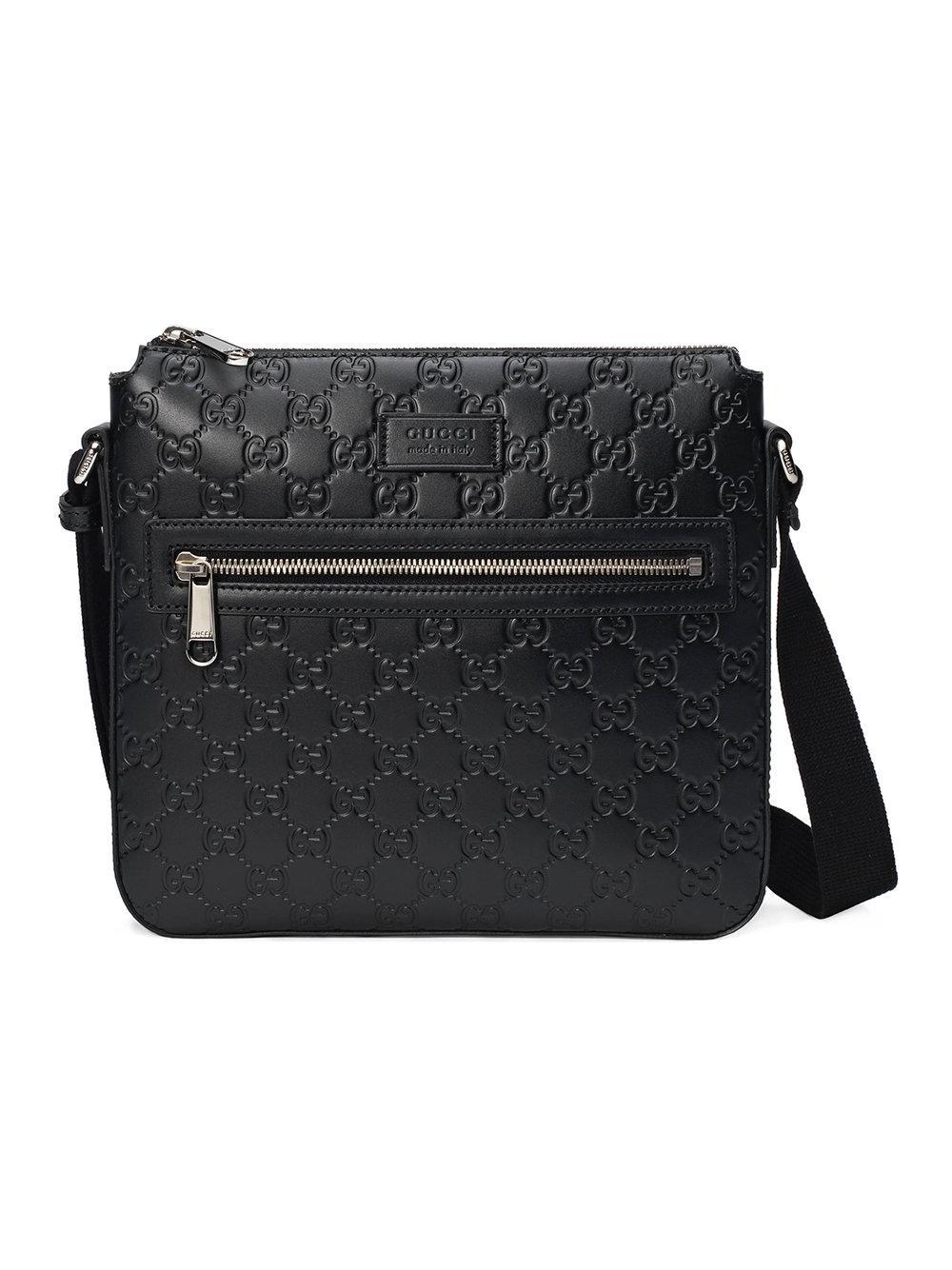 7cb6cbbb5b3 Gucci Signature Leather Messenger Bag