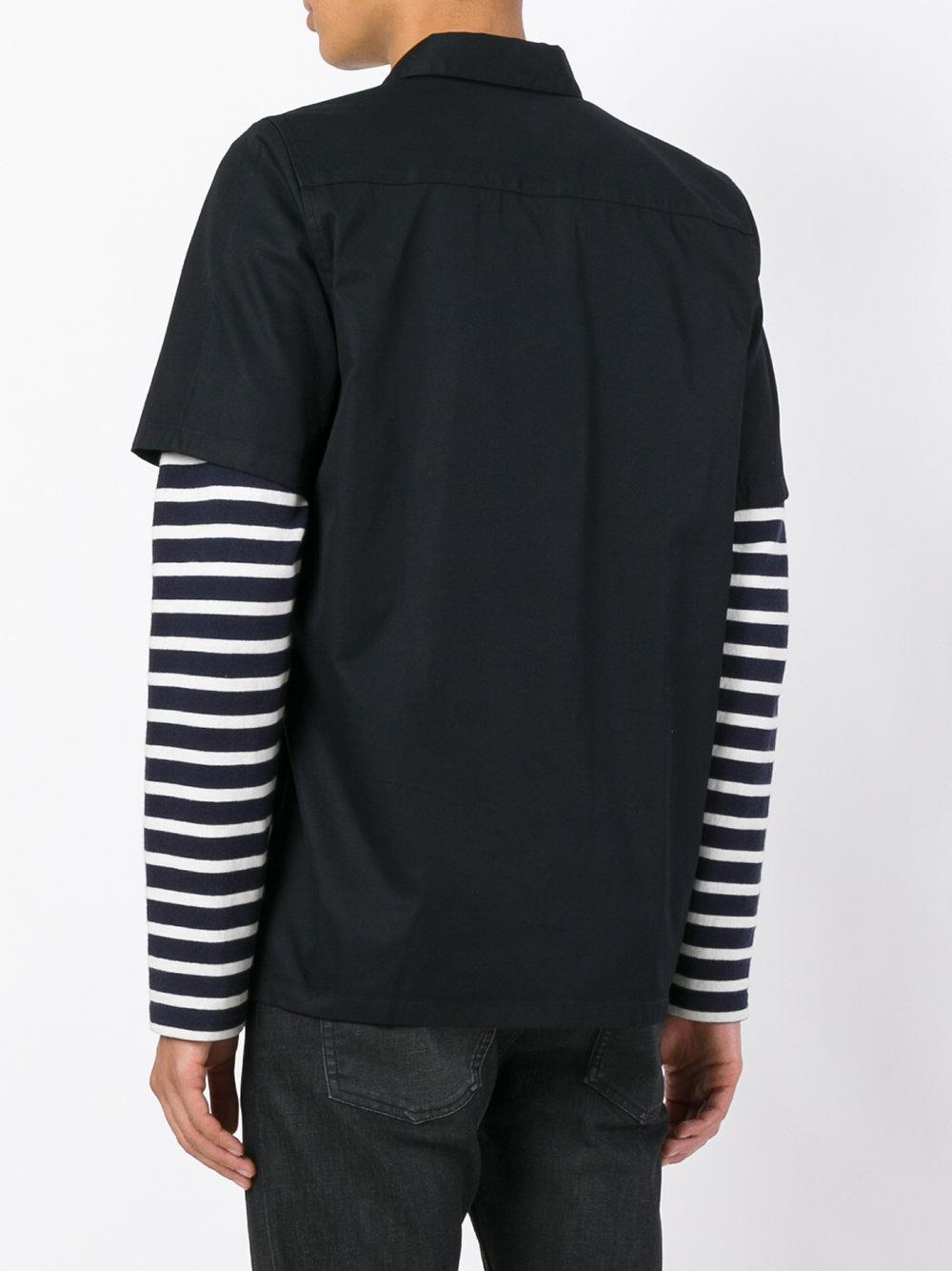 Lyst carhartt two pocket short sleeve shirt in black for men for Mens two pocket short sleeve shirts