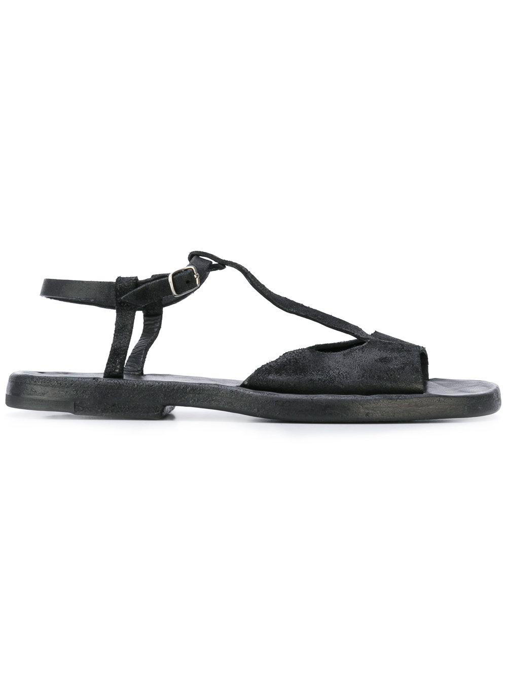 Lyst Dimissianos Amp Miller Buckled T Bar Flat Sandals In