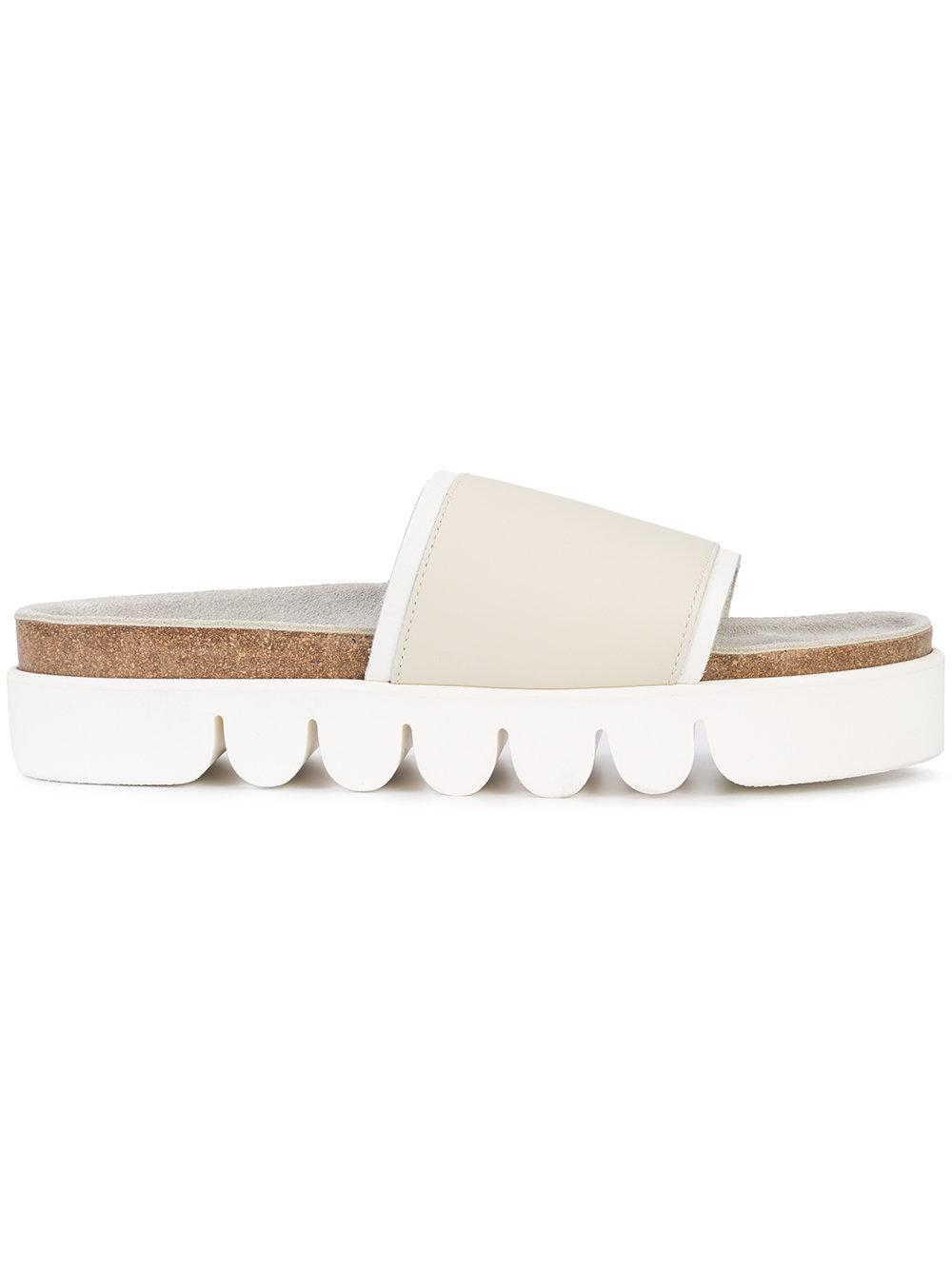 bf4b9577424 Lyst - Hender Scheme Caterpillar Flip Flops in White for Men