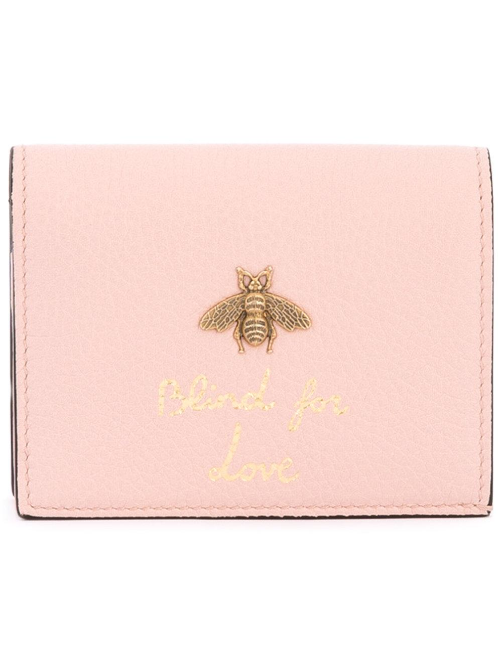 9fb741ef752d Gucci 'blind For Love' Wallet in Pink - Lyst