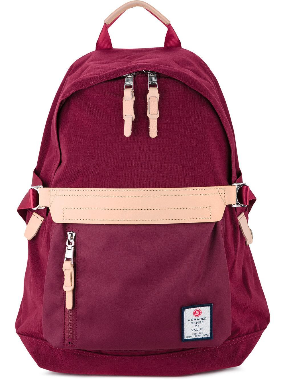 As2ov Front Zip Backpack In Red For Men | Lyst