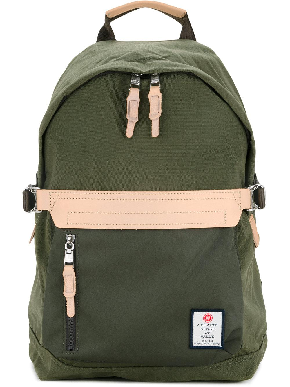 As2ov Front Zip Backpack In Green For Men | Lyst