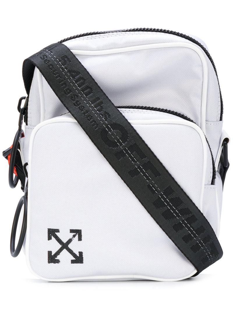 ede2a0e04 Off-White c/o Virgil Abloh Arrows Crossbody Bag in White for Men - Lyst