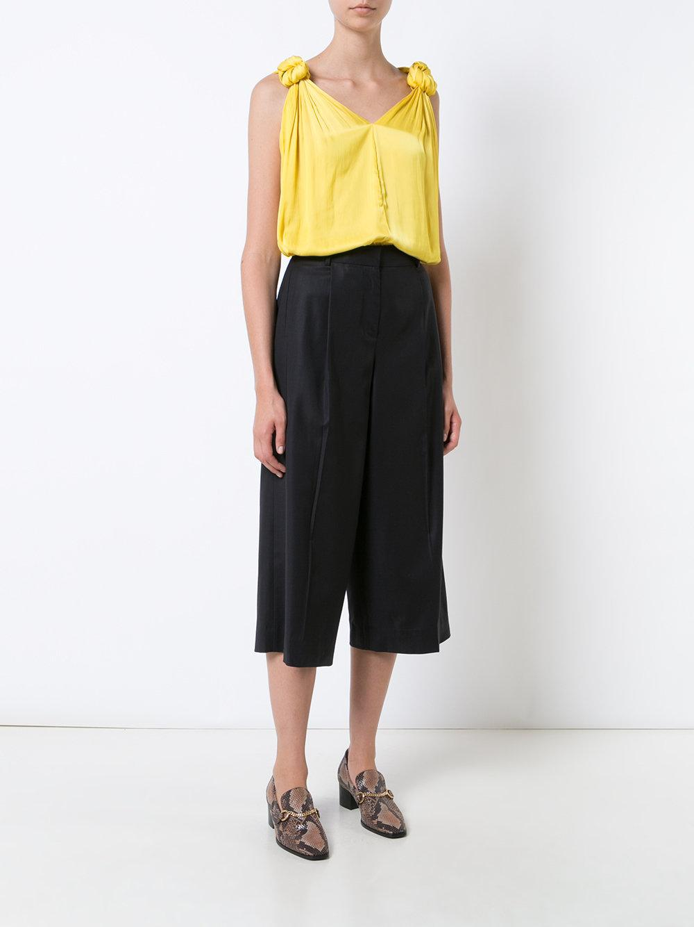 Lyst Smythe Knot Blouse In Yellow