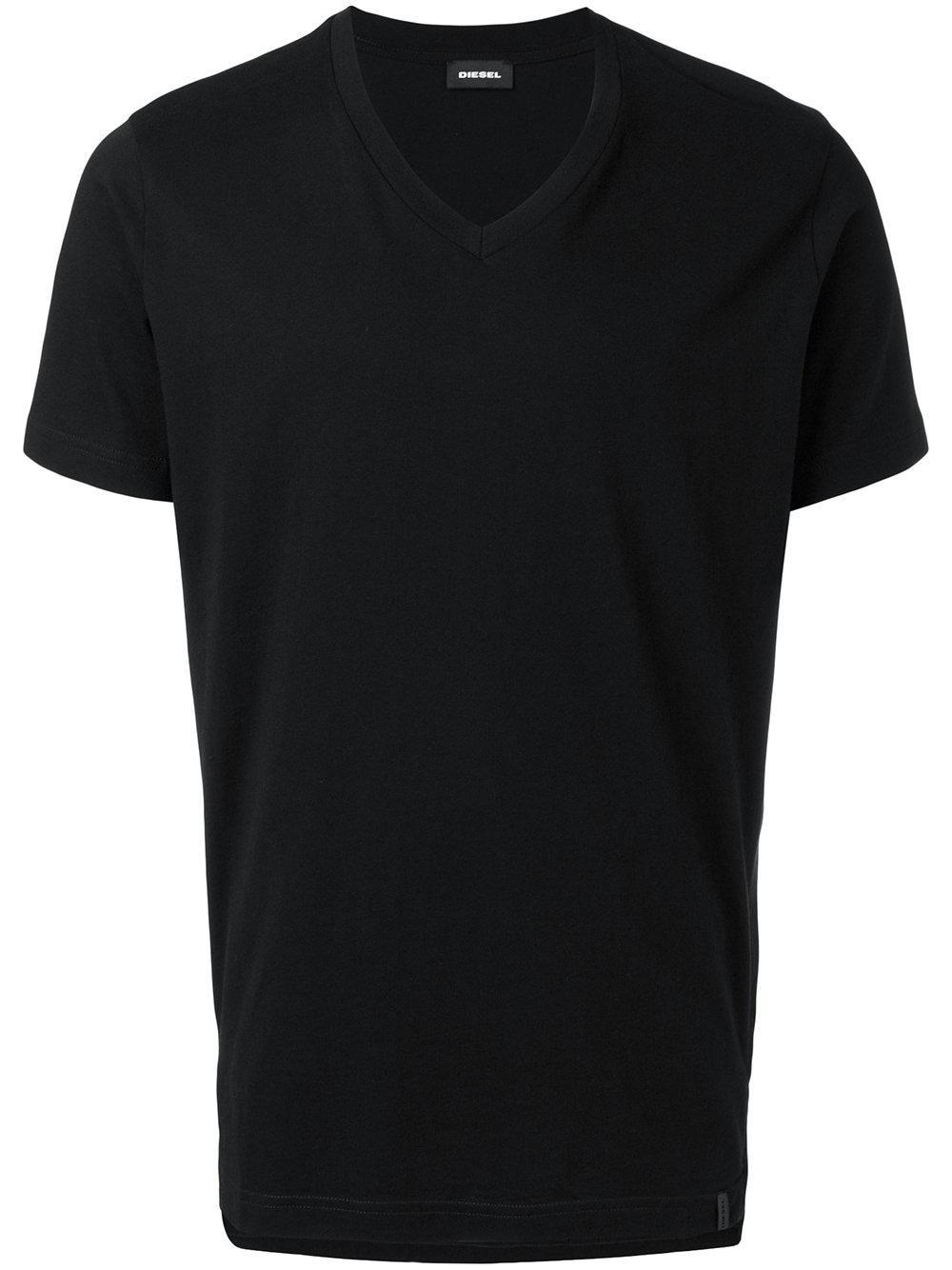 Diesel v neck t shirt in black for men lyst for Mens diesel v neck t shirts
