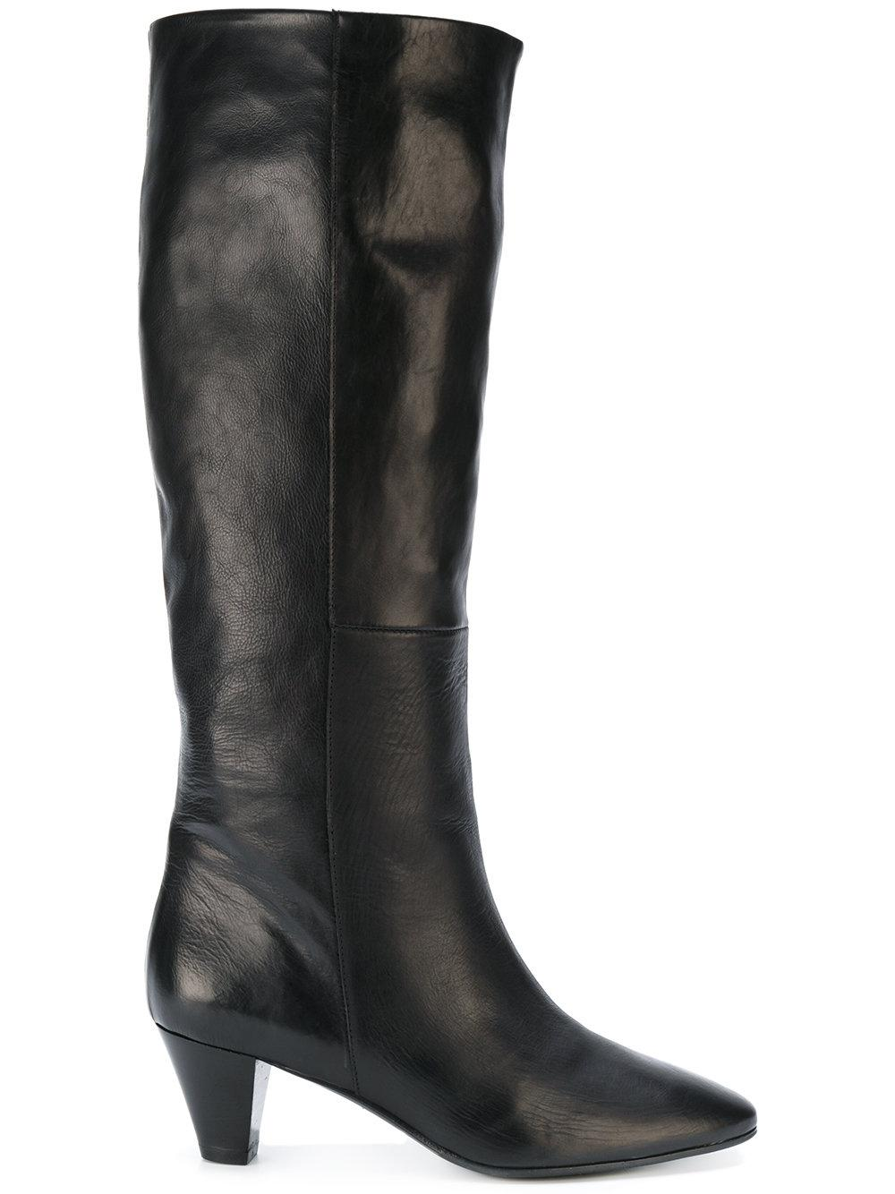 marc ellis knee length leather boots in black lyst
