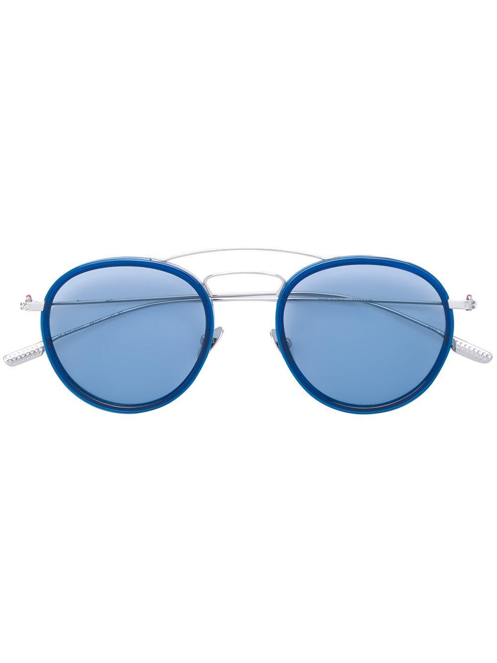 kiton rodi sunglasses in blue lyst