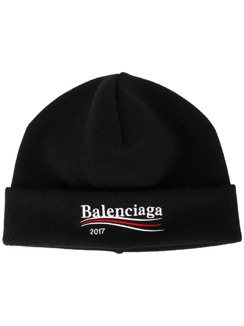 9ed499d9eca Lyst - Balenciaga 2017 Beanie Hat in Black for Men