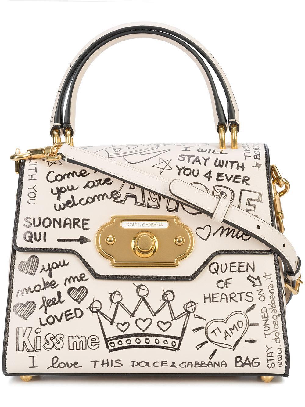 Welcome tote bag - White Dolce & Gabbana 6wc9LzDM