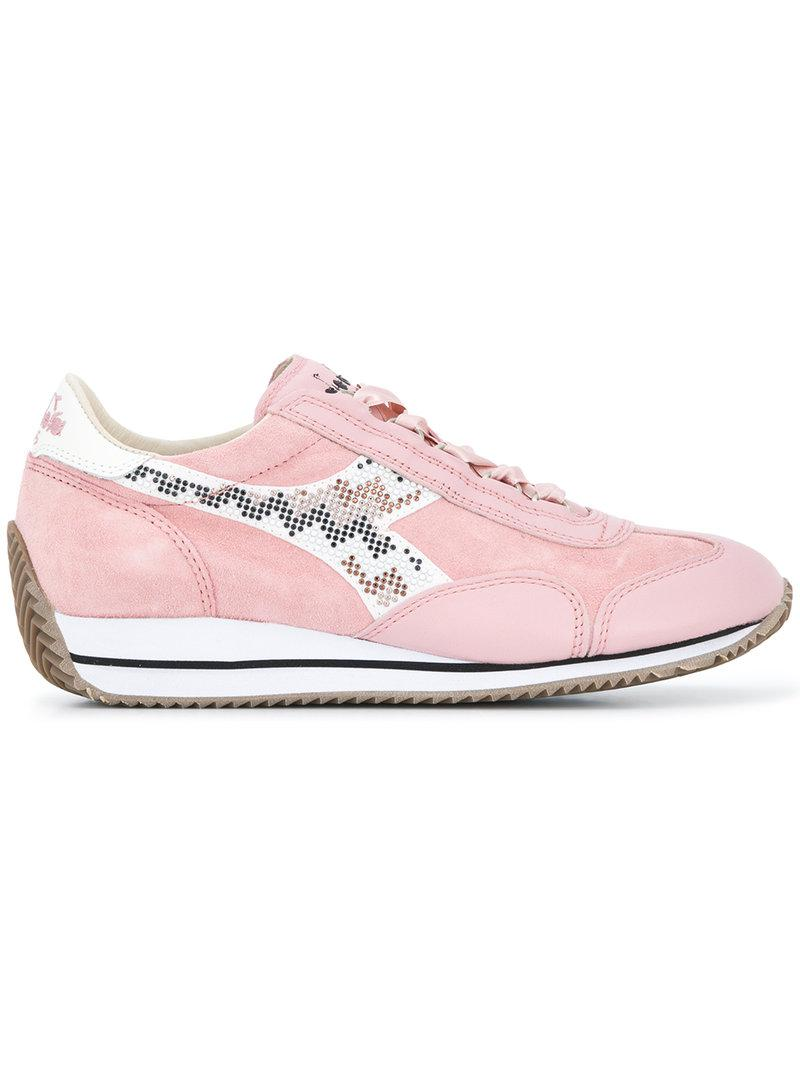 Perles Diadora Chaussures De Sport Equipe - Rose Et Violet FkoE1Jfogs