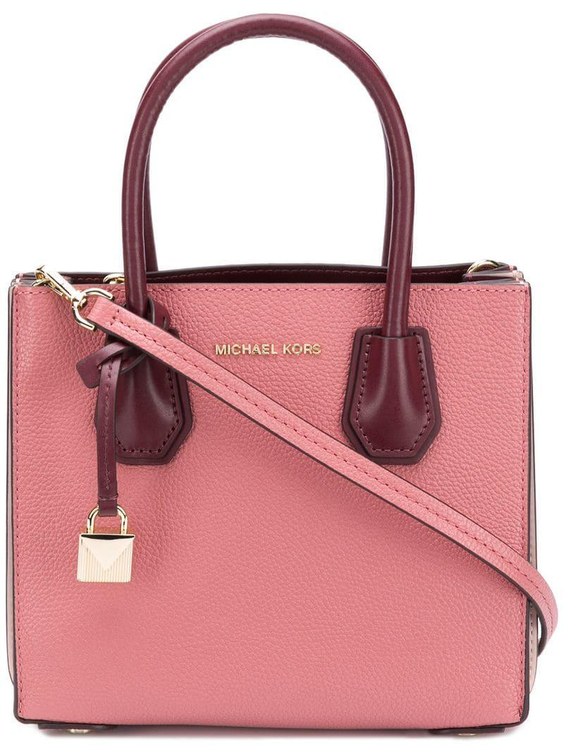 452bf31f452bfc Michael Michael Kors Mercer Crossbody Bag in Pink - Lyst