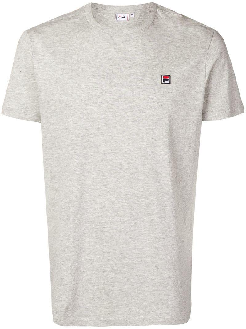 4cea00d3568 Fila - Gray Logo Patch T-shirt for Men - Lyst. View fullscreen