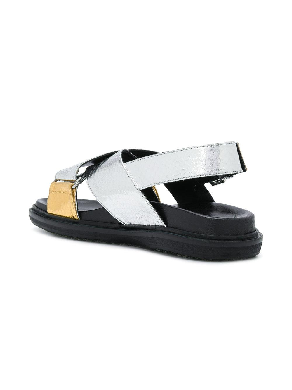 cross over strap sandals - Metallic Marni Clearance Store Cheap Price Shop 2018 Cheap Price Latest Collections For Sale dj7s4