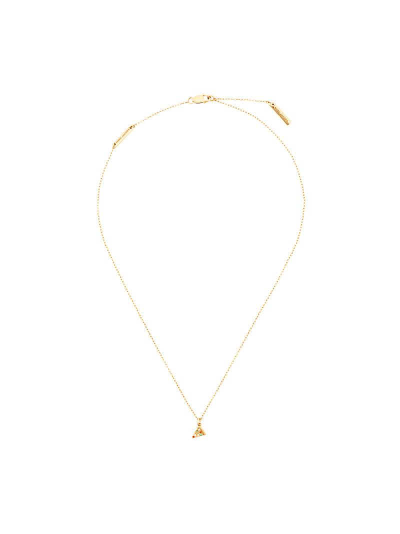 Marc Jacobs crystal pizza necklace - Metallic FIrkily