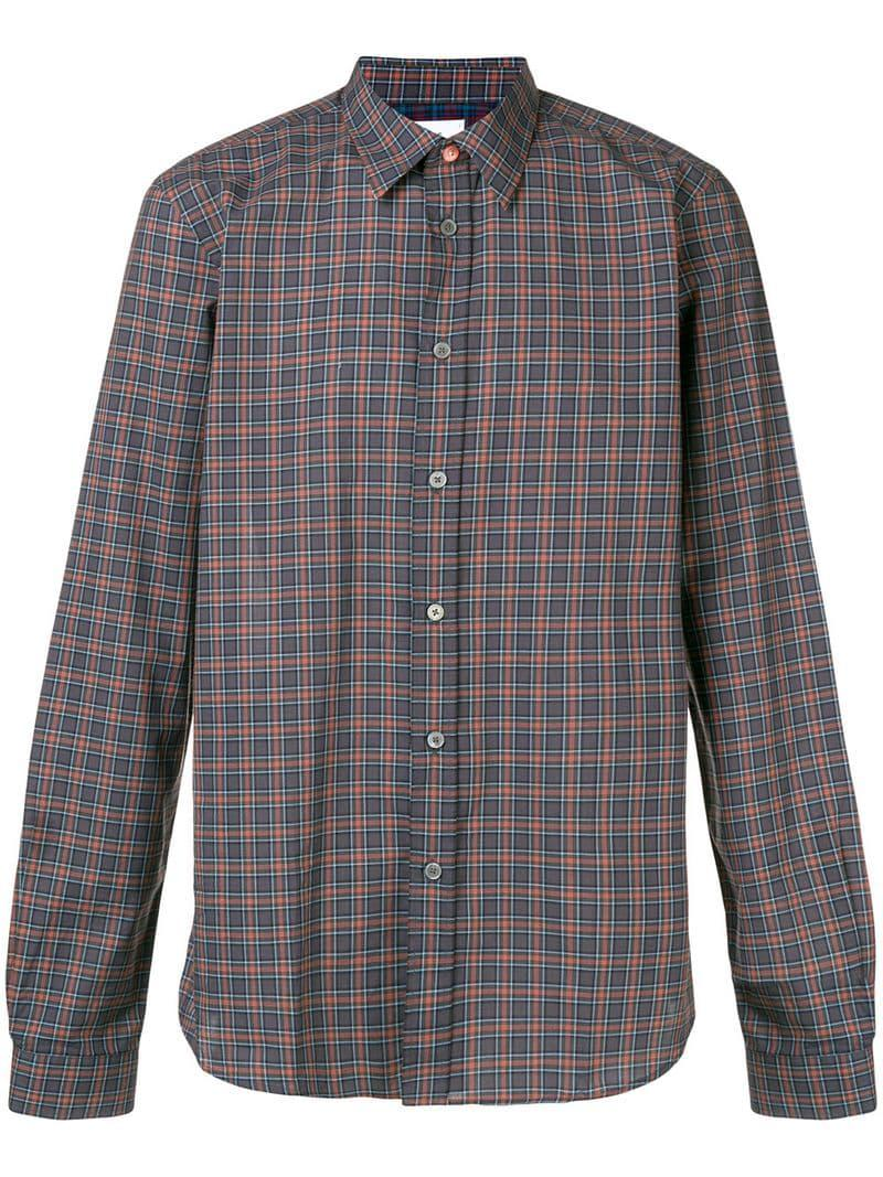 6d151ca77161f0 PS by Paul Smith Check Shirt in Gray for Men - Lyst