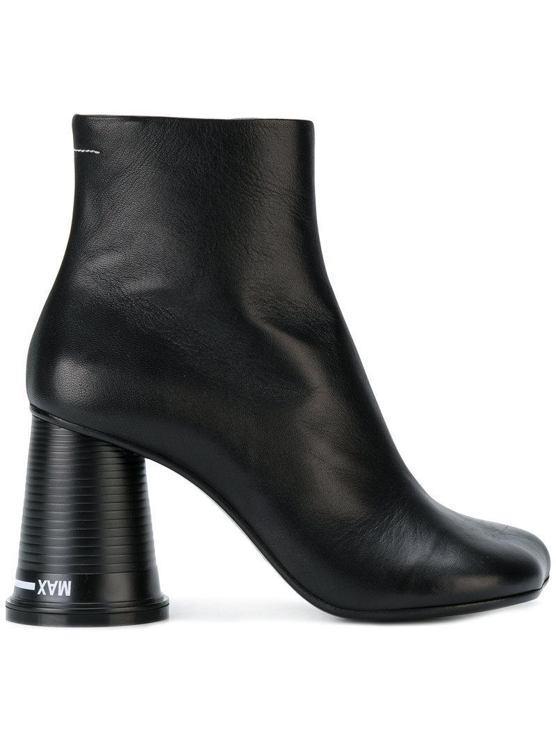 MM6 Maison Martin Margiela Black Rylee Low Boots 7UueXUWM