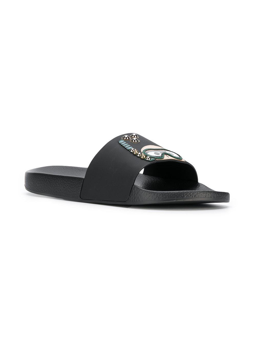 103b00c11 Lyst - Dolce   Gabbana St. Barth Sliders in Black for Men