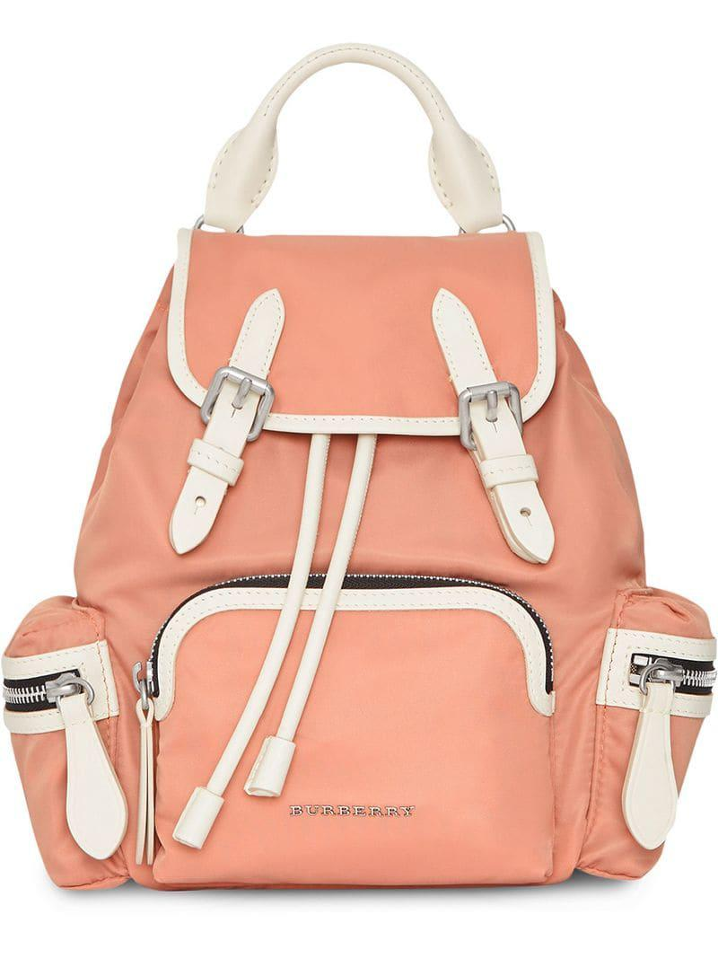 Lyst - Burberry The Small Crossbody Rucksack In Nylon fb25691199