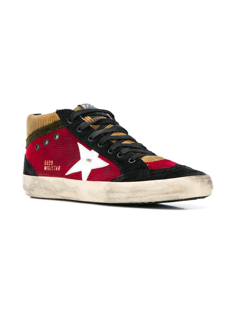 2a59203467f7c Lyst - Golden Goose Deluxe Brand Mid Star Corduroy Sneakers in Red for Men