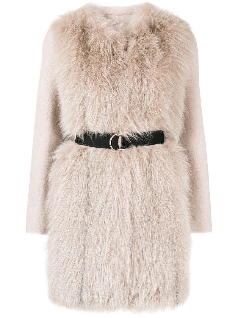 Prices Cheap Online Blancha belted mid-length coat Buy Cheap Online Designer INwdF