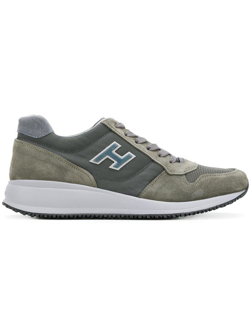 logoed panel sneakers - Green Hogan x1SMUhH