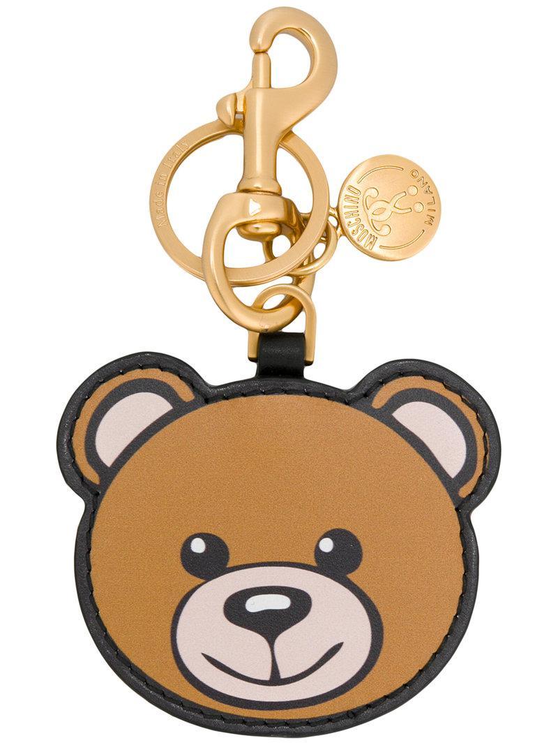 Lyst - Moschino Portachiavi  toy Bear  in Brown c257fe0ec76